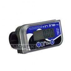 Електронний лічильник IN LINE для дизельного палива, масла, 10-150 л / хв, +/- 0,5%