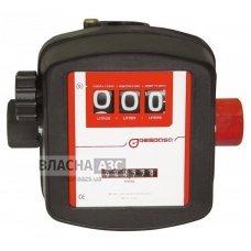 Механічний лічильник MG-80V для обліку бензину, ДТ, рідини Adblue, 10-90 л / хв, +/- 1%