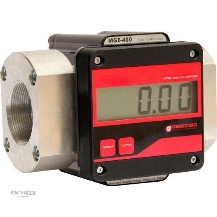 Электронный счетчик большого протока MGE-400 для дизельного топлива, масла, 15-400 л/мин, +/-0,5%, Испания