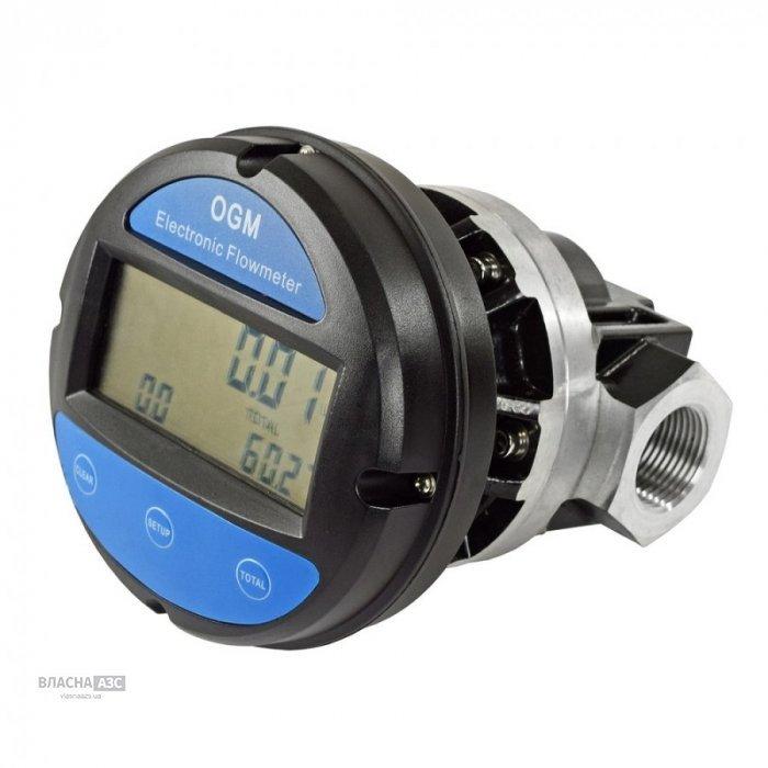Электронный счетчик OGM-25 для бензина, ДТ, масла, 20-120 л/мин