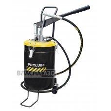 Нагнітач змазки ручний переносний  15 кг (з колесами) PROLUBE PL-44285